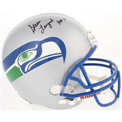 """Steve Largent Signed Seahawks Full-Size Helmet Inscribed """"HOF 95"""" (Radtke Hologram)"""