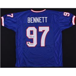 "Cornelius Bennett Signed Jersey Inscribed ""5x's Pro Bowl"" (Radtke COA)"