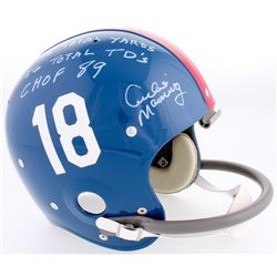 Archie Manning Signed Ole Miss Throwback LE Full-Size Suspension Helmet with (3) Inscriptions (Radtk