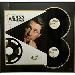 "Brian Wilson Signed ""Playback: The Brian Wilson Anthology"" 26x28 Custom Framed Display (JSA COA)"