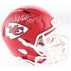 """Marcus Allen Signed Chiefs Full-Size Speed Helmet Inscribed """"HOF 03"""" (Allen Hologram)"""