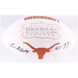 "Earl Campbell Signed Texas Longhorns Logo Football Inscribed ""HT 77"" (JSA COA)"