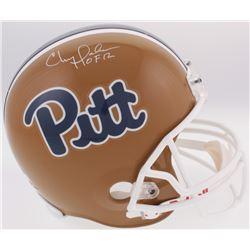 "Chris Doleman Signed Pitt Panthers Full-Size Helmet Inscribed ""HOF 12"" (Radtke COA)"