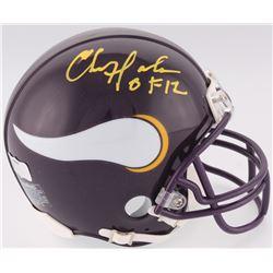 "Chris Doleman Signed Vikings Mini-Helmet Inscribed ""HOF 12"" (Radtke COA)"