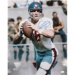 Archie Manning Signed Giants 16x20 Photo (JSA COA)
