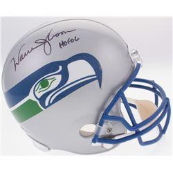 "Warren Moon Signed Seahawks Full-Size Helmet Inscribed ""HOF 06"" (Radtke COA)"