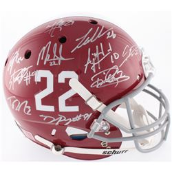 Alabama Crimson Tide Modern Greats Full-Size Helmet Signed by (21) with Mark Ingram Jr., Derrick Hen
