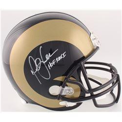 "Marshall Faulk Signed Rams Full-Size Helmet Inscribed ""HOF 20XI"" (Radtke COA)"