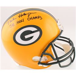 "Mike Holmgren Signed Packers Full-Size Helmet Inscribed ""SB XXXI Champs"" (Radtke COA)"