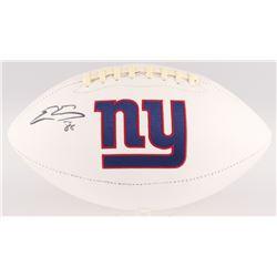 Evan Engram Signed New York Giants Logo Football (JSA COA)