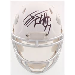 J.J. Watt Signed Texans Matte White ICE Mini Speed Helmet (JSA COA  Watt Hologram)