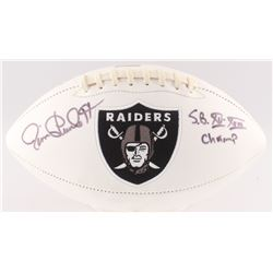 "Jim Plunkett Signed Raiders Logo Football Inscribed ""S.B. XV-XVIII Champ"" (Radtke COA)"