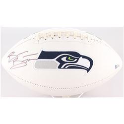 Brian Bosworth Signed Seahawks Logo Football (Beckett COA)