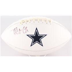 Taco Charlton Signed Cowboys Logo Football (JSA COA)