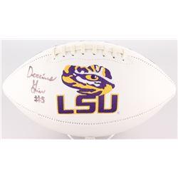 Derrius Guice Signed LSU Tigers Logo Football (JSA COA)