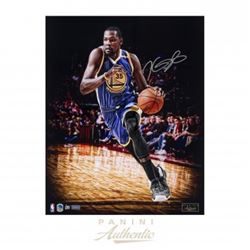 "Kevin Durant Signed Warriors ""Logo"" 16x20 Limited Edition Photo (Panini COA)"