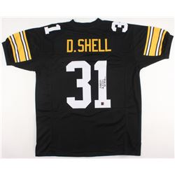 """Donnie Shell Signed Jersey Inscribed """"SB IX,X,XIII,XIV Champ"""" (Jersey Source COA)"""