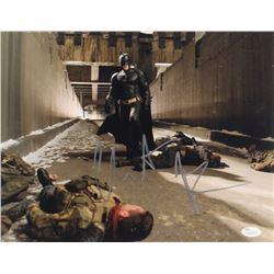 "Christian Bale Signed ""The Dark Knight Rises"" 11x14 Photo (JSA COA)"
