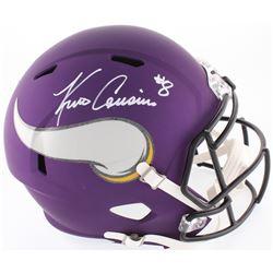 Kirk Cousins Signed Vikings Custom Matte Purple Full-Size Speed Helmet (Beckett COA)