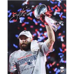"""Julian Edelman Signed """"Patriots Super Bowl XLIX Championship"""" 16x20 Photo Inscribed """"SB 49 Champs!"""""""