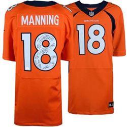 LE Payton Manning Denver Broncos Nike Jersey Team-Signed By (11) With Peyton Manning, Von Miller, Em