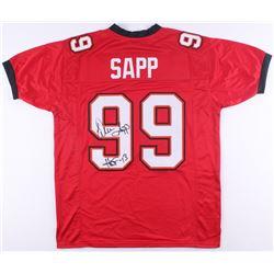 "Warren Sapp Signed Jersey Inscribed ""HOF 13"" (JSA COA)"