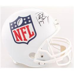 Peyton Manning Signed NFL Shield Logo Full-Size Helmet (Fanatics Hologram)