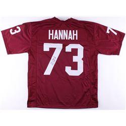 "John Hannah Signed Jersey Inscribed ""CHOF 99"" (JSA COA)"