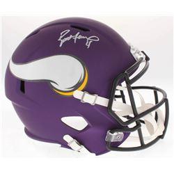 Brett Favre Signed Vikings Full-Size Purple Matte Speed Helmet (Favre COA)