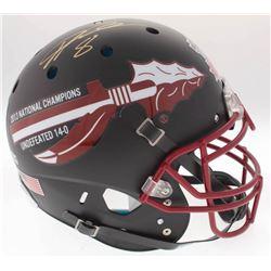Devonta Freeman Signed Florida State Seminoles 2014 National Champions Full-Size On-Field Helmet (Ra