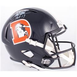 "Terrell Davis Signed Broncos Full-Size Speed Color Rush Helmet Inscribed ""HOF 17"" (Radtke COA)"