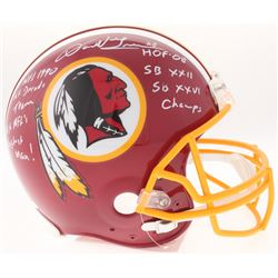Darrell Green Signed Redskins Full-Size Authentic On-Field Helmet with (5) Inscriptions (JSA COA)