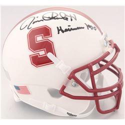 "Jim Plunkett Signed Stanford Cardinal Mini-Helmet Inscribed ""Heisman 1970"" (Radtke COA)"