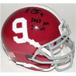 "Amari Cooper Signed Alabama Crimson Tide Mini-Helmet Inscribed ""3463 YDs""  ""31TDs"" (Radtke COA)"