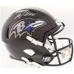 Anquan Boldin Signed Ravens Full-Size Speed Helmet (Beckett COA)