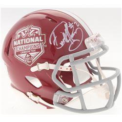 Derrick Henry Signed 2015 Alabama Crimson Tide National Champions Logo Mini Speed Helmet (Radtke COA