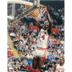 Hakeem Olajuwon Signed Rockets 16x20 Photo (JSA COA)