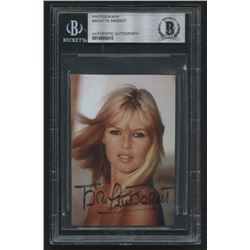 Brigitte Bardot Signed 2.5x3.5 Photo (BGS Encapsulated)