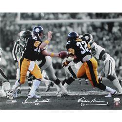 Terry Bradshaw  Franco Harris Signed Steelers 16x20 Photo (JSA COA)