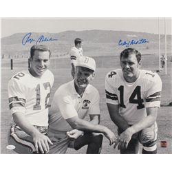 Roger Staubach  Craig Morton Signed Cowboys 16x20 Photo (JSA COA  Jersey Source Hologram)