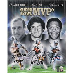 Marcus Allen, Fred Biletnikoff  Jim Plunkett Signed Raiders Super Bowl MVP's 16x20 Photo With Multip