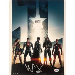 "Ben Affleck  Ezra Miller Signed ""Justice League"" 11x14 Photo (PSA COA)"