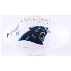 Wesley Walls Signed Panthers Logo Football (Radtke Hologram)