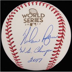 "Nolan Ryan Signed 2017 World Series OML Baseball Inscribed ""W.S. Champs 2017"" (JSA COA  Ryan Hologra"