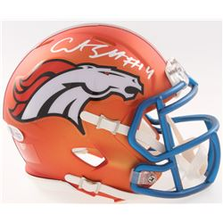 Courtland Sutton Signed Broncos Speed Blaze Mini Helmet (Beckett COA)