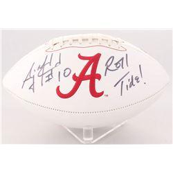 """AJ McCarron Signed Alabama Crimson Tide Logo Football Inscribed """"Roll Tide!"""" (Radtke Hologram)"""