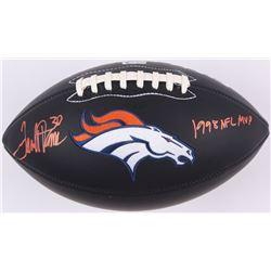 "Terrell Davis Signed Denver Broncos Logo Football Inscribed ""1998 NFL MVP"" (Radtke COA  Davis Hologr"