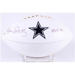 """Tony Dorsett Signed Cowboys Logo Football Inscribed """"HOF '94"""" (Radtke COA)"""