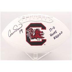 "Connor Shaw Signed South Carolina Gamecocks Logo Football Inscribed ""17-0 Home Record"" (Radtke COA)"