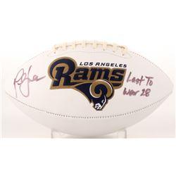 "Marshall Faulk Signed Rams Logo Football Inscribed ""Last to Wear 28"" (JSA COA)"